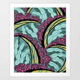 BALINESIA: TAMANGO MORNING, Art Deco Tropical Art Print