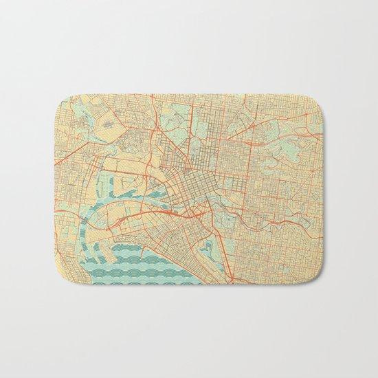 Melbourne Map Retro Bath Mat