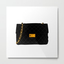 The quilted bag Metal Print