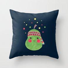 Hippie Pear Throw Pillow