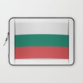 Flag of Bulgaria. The slit in the paper with shadows. Laptop Sleeve