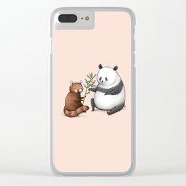 Panda Friends Clear iPhone Case