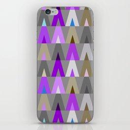 Deer Head Geometric Triangles | purple grey iPhone Skin