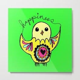 Happiness Bird Metal Print