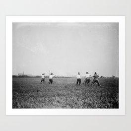 Shooting Art Print