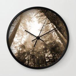 Smokey Trees Wall Clock