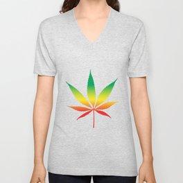 Marihuana Colorful Unisex V-Neck