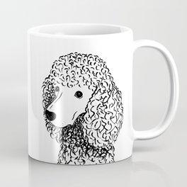 Poodle (Black and White) Coffee Mug