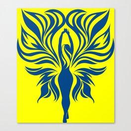 Aura Wings (Maize & Blue) Canvas Print