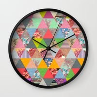 lost Wall Clocks featuring Lost in ▲ by Bianca Green