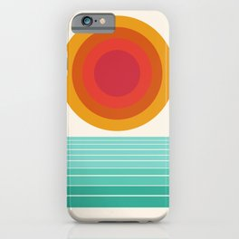 Totally Hot - 70s style retro throwback minimal sunshine beach socal cali 1970's iPhone Case