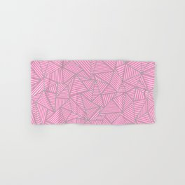 Ab Out Double Pink and Grey Hand & Bath Towel