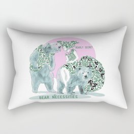 Bear Necessities #1a Bearly Secret Rectangular Pillow