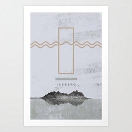 Iceberg (letter I) Art Print