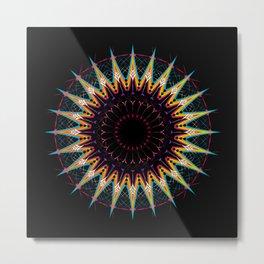 Futuristic Zen Mandala Metal Print