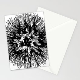 Make A Wish Dandelion Vector In Black Stationery Cards