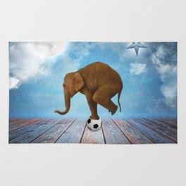 Elephant Playing Ball Rug