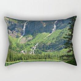 USA Avalanche Glacier Montana Nature Mountains Waterfalls Lake Parks landscape photography mountain park Scenery Rectangular Pillow