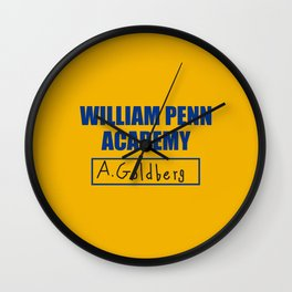William Penn Academy Gym Shirt  Wall Clock