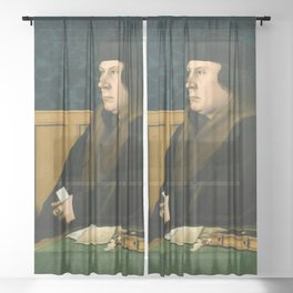 Hans Holbein the Younger - Thomas Cromwell Sheer Curtain
