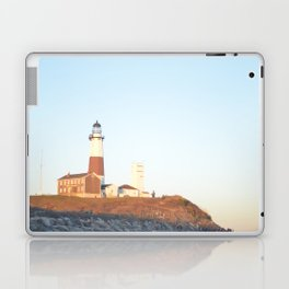 Sunset at Lighthouse in East Hampton Laptop & iPad Skin