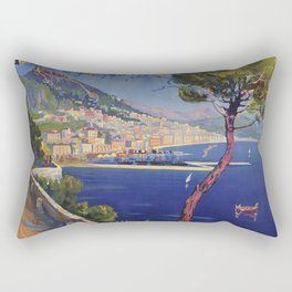 Salerno Italy vintage summer travel ad Rectangular Pillow