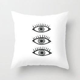 Three Eyes Throw Pillow
