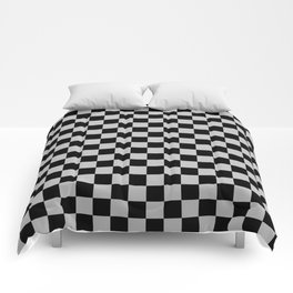 Black and Gray Checkerboard Comforters