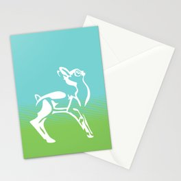 Spring is in the air deer Stationery Cards