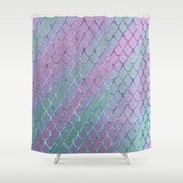 Mermaid Princess Glitter Scales Glam #1 #shiny #stripes #decor #art #society6 Shower Curtain