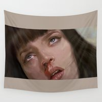 pulp Wall Tapestries featuring pulp fiction  by Islawillbaby