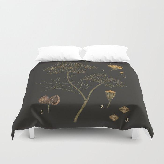 Dill (Dark Background) Duvet Cover