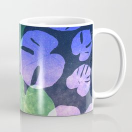 Tropical Nights-Monstera Deliciosa Leaves Coffee Mug
