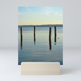 Pilings on the Severn River - minimalist landscape photography Mini Art Print