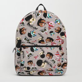 Pop Cats - Pattern on White Backpack