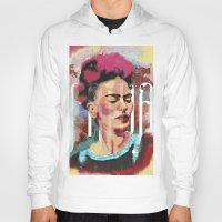 frida Hoodies featuring Frida by Juan Alonzo