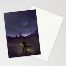 under the light of distant stars Stationery Cards