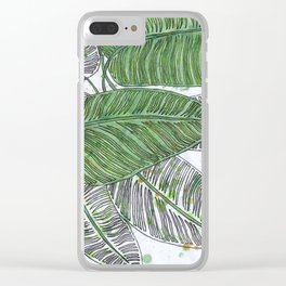 Leaves In Color Clear iPhone Case