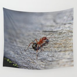 Little Red and Black Ant Wall Tapestry