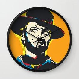 Clint Eastwood Pop Art Portrait Wall Clock