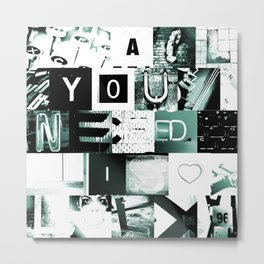 All You Need Is LOL ~ B/W Metal Print