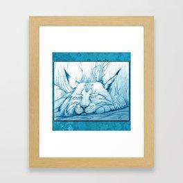 Bobcat nap Framed Art Print