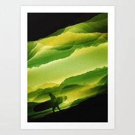 Plastic Surfing Art Print
