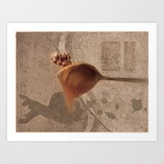 Nuts with honey Art Print