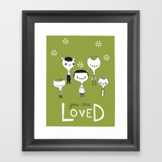 You are Loved - green Framed Art Print