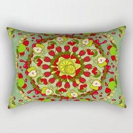 Red Fruit, Green Fruit Rectangular Pillow