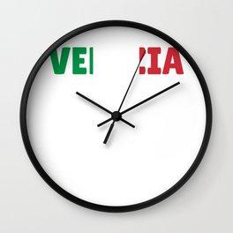 Venezia Italy flag holiday gift Wall Clock