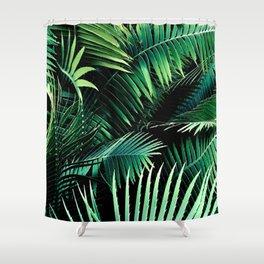 Winter Palms Shower Curtain
