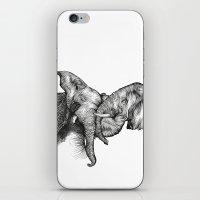 elephants iPhone & iPod Skins featuring elephants by Lyudmila Kuguk