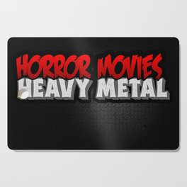Horror Movies Heavy Metal Cutting Board